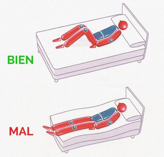 Posturas para dormir adopta la postura correcta para dormir for Cuales son las medidas de un colchon individual
