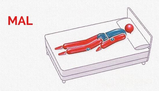 Posturas para dormir. Boca abajo