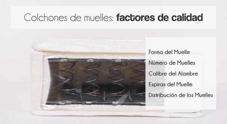 Colchones de muelles: factores de calidad